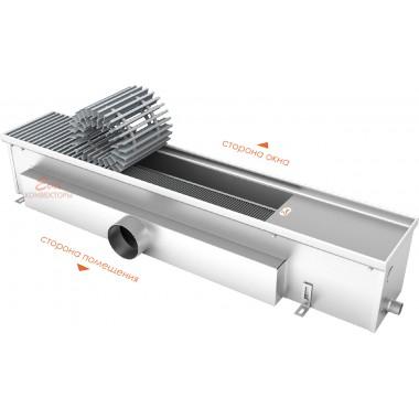 Встраиваемый в пол конвектор без вентилятора EVA K.160.165 (длина 1500 мм)