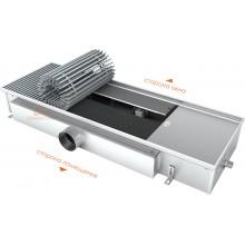 Встраиваемый в пол конвектор с тангенциальным вентилятором EVA KB.125.403 (длина 1000 мм)