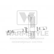 Комплект отвода дымовых газов Buderus для вывода через стену ? 80/125
