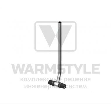 Монтажная трубка для подключения радиатора проходная TECElogo ? 16 х 15 мм Cu х 330 мм
