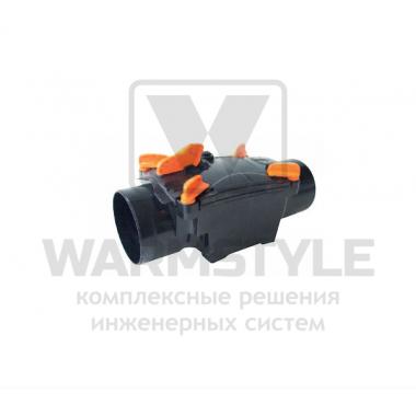 Механический канализационный затвор двухкамерный с запирающимися заслонками для труб из ПВХ REDI OTTIMA d 110