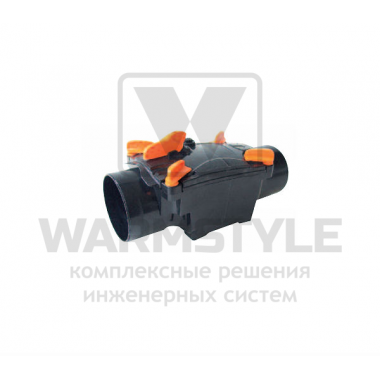 Механический канализационный затвор двухкамерный с запирающимися заслонками для труб из ПВХ REDI OTTIMA d 125
