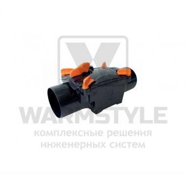 Механический канализационный затвор двухкамерный с запирающимися заслонками для всех видов труб REDI OTTIMA d 100