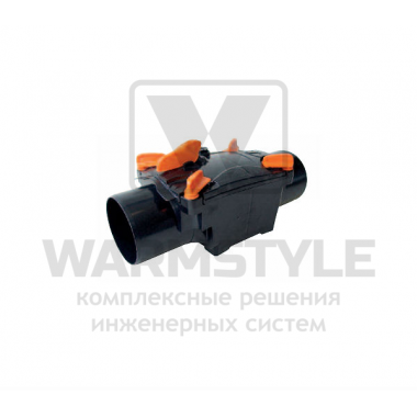 Механический канализационный затвор двухкамерный с запирающимися заслонками для всех видов труб REDI OTTIMA d 110