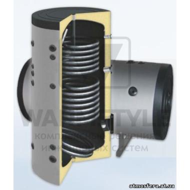 Вертикальный бойлер косвенного нагрева с двумя теплообменниками Sunsystem SON 500 l (500 литров). С функцией установки интеллектуального блока управления.