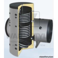 Вертикальный бойлер косвенного нагрева с двумя теплообменниками Sunsystem SON 1500 l (1500 литров). С функцией установки интеллектуального блока управления.