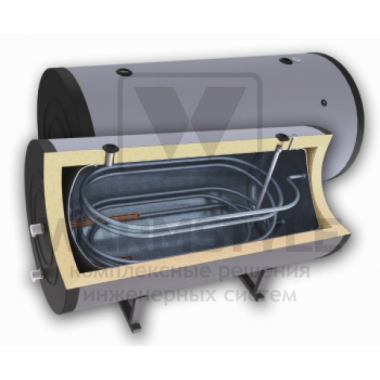 Горизонтальный бойлер косвенного нагрева с двумя теплообменниками Sunsystem H SON 400 l (400 литров). С функцией установки интеллектуального блока управления.