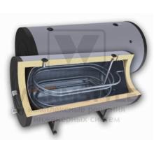 Горизонтальный бойлер косвенного нагрева с двумя теплообменниками Sunsystem H SON 1500 l (1500 литров). С функцией установки интеллектуального блока управления.