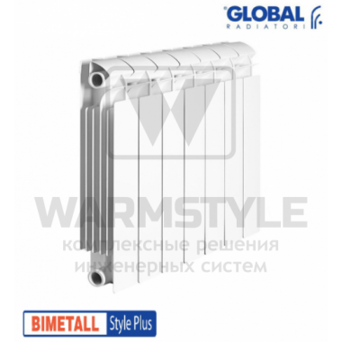 Биметаллический радиатор Global Style plus 350 (425x880x95)