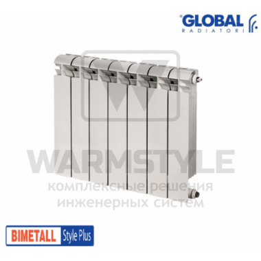 Биметаллический радиатор Global Style plus 500 (575x320x95)