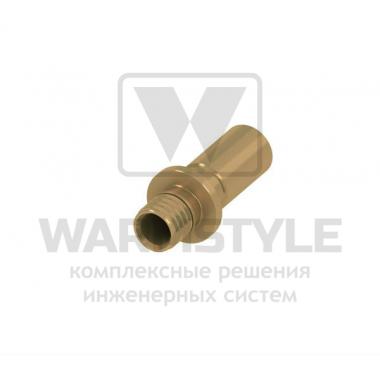 Адаптер латунный на медную трубу (пайка или пресс соединение) TECE ? 16 мм