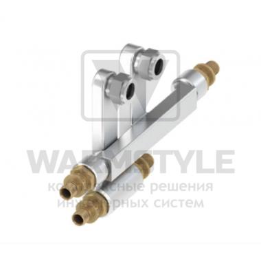 SLHK-Двойной тройник для подключения радиаторов TECEfleх ? 16 мм х 15 Cu х Заглушка