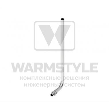 Монтажная трубка для подключения радиатора конечная (никелированная) TECE ? 16 мм/1100 мм