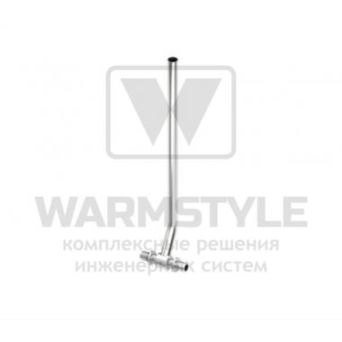 Монтажная трубка для подключения радиатора проходная (никелированная) TECE ? 16 мм