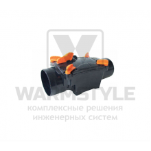 Механический канализационный затвор однокамерный с запирающейся заслонкой для труб из ПВХ REDI OTTIMA d 125