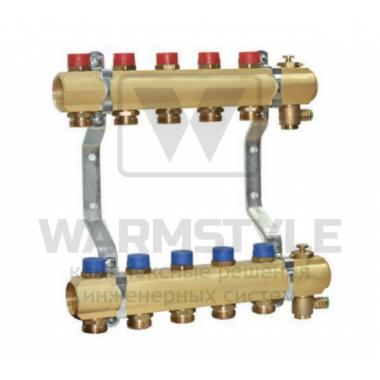 Коллектор для систем водоснабжения и отопления на 5 контуров TECE